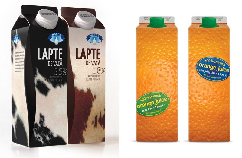 orange juice cartons