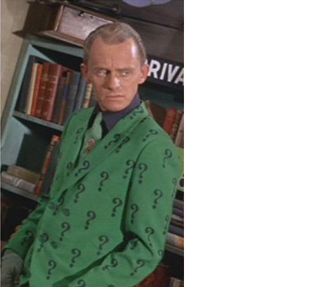 riddler question mark. of Question Mark and the